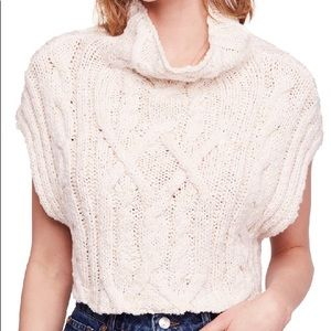 NWT | Free People | Frosted Cable Sweater Vest